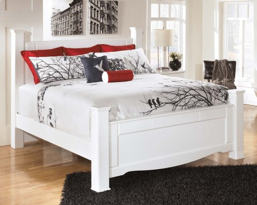 Weeki - White 4 Piece Bed Set (King)