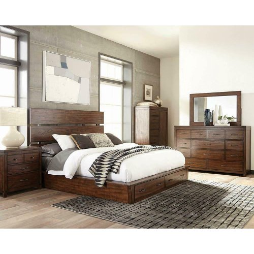 Artesia Industrial Dark Cocoa California King Bed