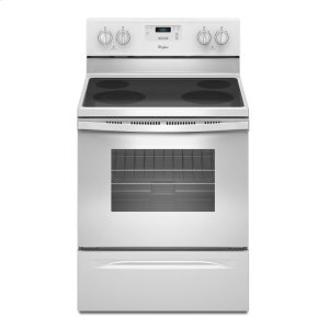4.8 Cu. Ft. Freestanding Electric Range with FlexHeat Dual Radiant Element - WHITE