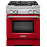 Kitchenaid30'' 4-Burner Dual Fuel Freestanding Range, Commercial-Style Signature Red