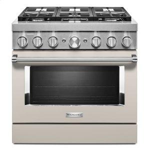 KitchenaidKitchenAid® 36'' Smart Commercial-Style Dual Fuel Range with 6 Burners Milkshake