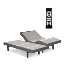 S-Cape 2.0 Adjustable Bed Base with Wallhugger Technology and Full Body Massage, Charcoal Gray Finish, Split Queen