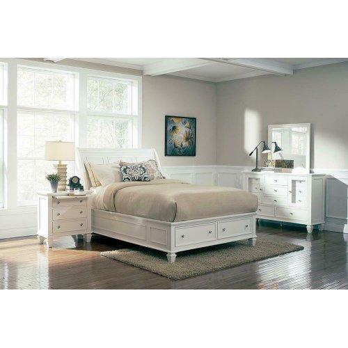 Sandy Beach White King Four-piece Bedroom Set