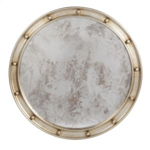 Worlds Away Large Champagne Silver Leaf Federal Style Frame With Antique Mirror.