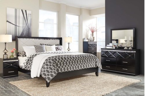 Fancee - Black 2 Piece Bedroom Set
