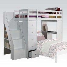 FREYA LOFT BED W/BOOKCASE LADD