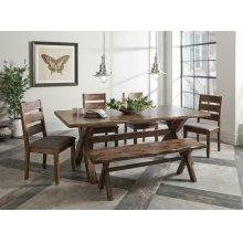 Alston Rustic Wavy Edge Six-piece Dining Set