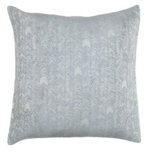 French Herringbone Storm 2Pc Euro Sham Set