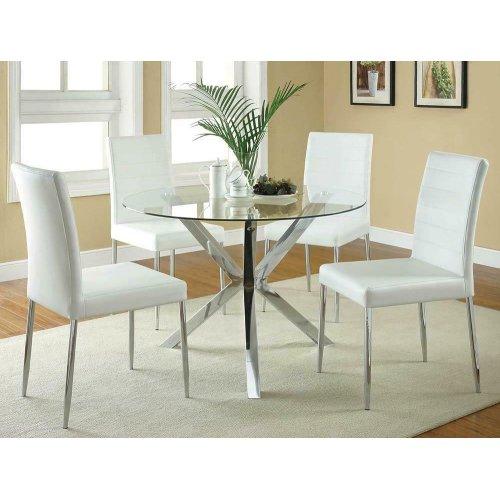 Vance Contemporary Chrome Dinette Table