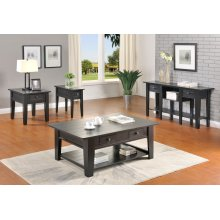 Ezra Black Coffee Table (End Table & Sofa Table Not Available)
