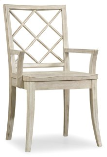 Dining Room Sunset Point X Back Arm Chair