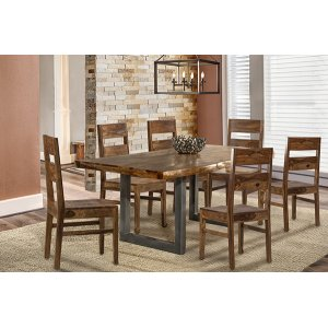 Hillsdale FurnitureEmerson 7 Piece Rectangle Dining Set (with Woods Chairs)