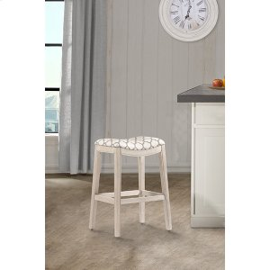 Hillsdale FurnitureSorella Non Swivel Backless Bar Stool - White
