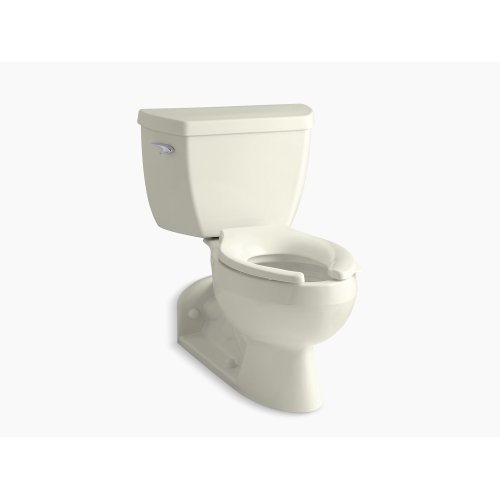 Biscuit Two-piece Elongated 1.6 Gpf Toilet With Pressure Lite Flushing Technology, Left-hand Trip Lever and Toilet Tank Locks