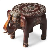 This vibrant accent table will display your passion for the traditional painted artifacts of the Far East. Individually handcrafted from mango wood solids with textured hand painted details, this elephant table symbolizes wisdom, good luck and good fortun