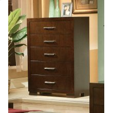 Jessica Cappuccino Five-drawer Chest