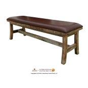 Breakfast Bench w/Bondedleather Seat