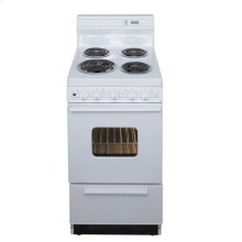 20 in. Freestanding Electric Range in White