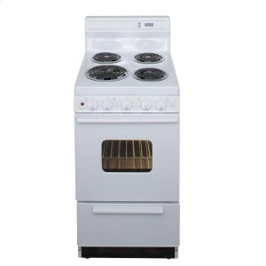 Premier20 in. Freestanding Electric Range in White