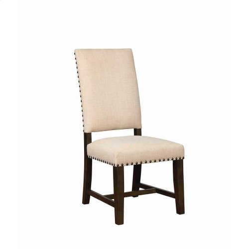 Contemporary Beige Upholstered Parson Chair