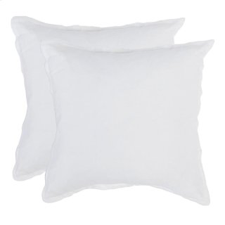 Arcadia White 2Pc Euro Sham Set