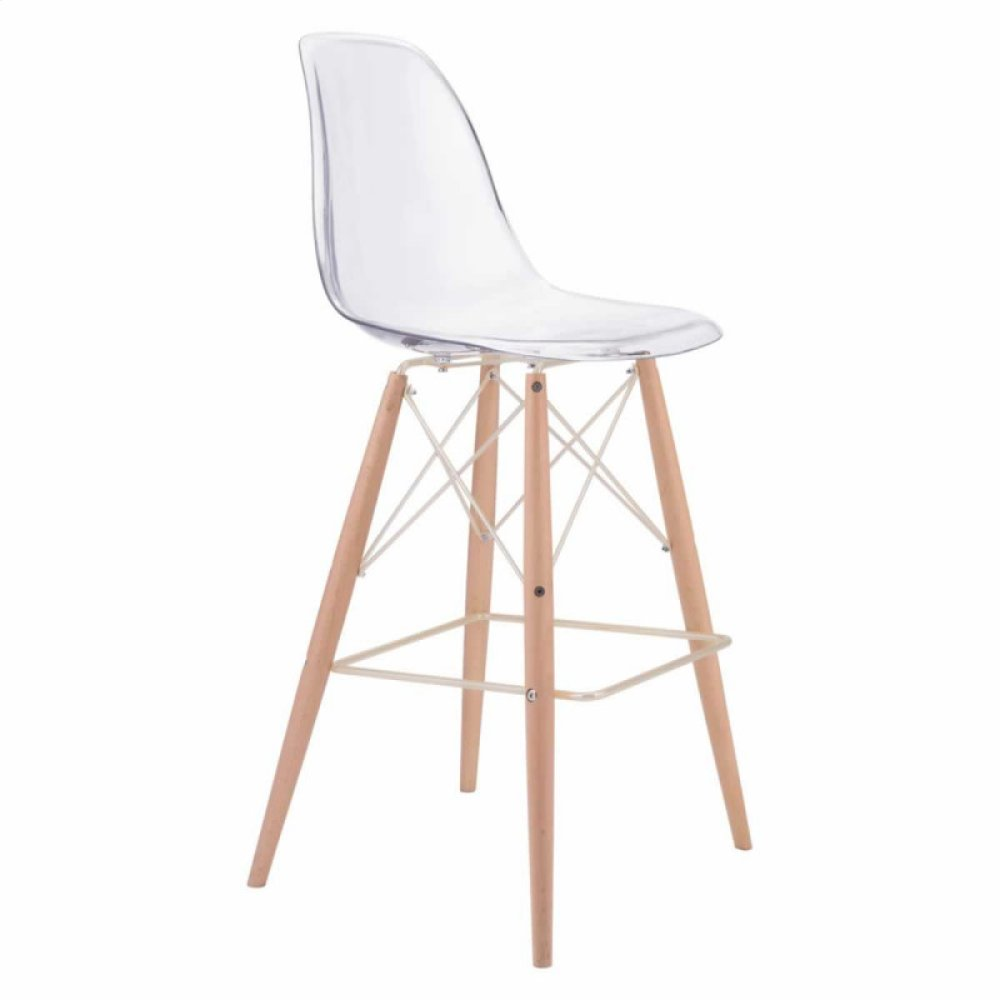 Shadow Bar Chair Clear, Natural & Gold