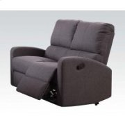 Gray Fabric Motion Loveseat Product Image