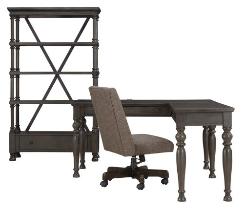 Devenstead - Dark Gray 2 Piece Home Office Set