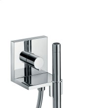 Chrome Hand shower module 120/120 for concealed installation square