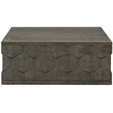 Linea Square Cocktail Table in Cerused Charcoal (384)