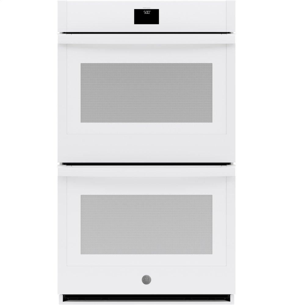 "GE30"" Smart Built-In Self-Clean Convection Double Wall Oven With Never Scrub Racks"