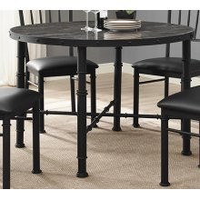 Stonehenge Metal and Stone Dining Table
