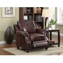 Princeton Traditional Burgundy Push Back Recliner