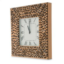 Square Wall Clock W/crystal Accents