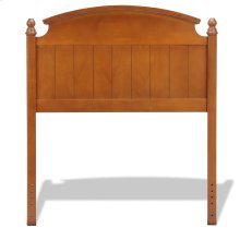 Danbury Wooden Headboard Panel with Curved Topped Rail and Carved Finials, Walnut Finish, Twin