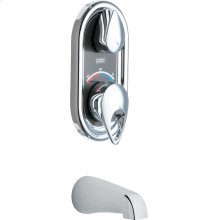 TempShield® thermostatic/pressure balancing shower fitting with shower head and diverter tub spout options