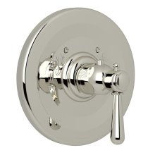 Polished Nickel Verona Thermostatic Trim Plate Without Volume Control with Verona Series Only Metal Lever