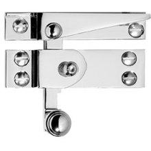 Antique Brass Unlacquered Straight arm sash fastener with lock, narrow