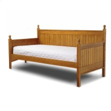 Casey Complete Wood Daybed with Ball Finials, Honey Maple Finish, Twin