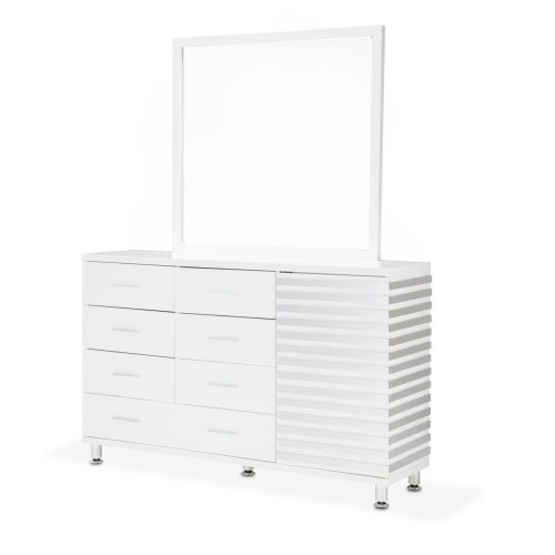 Dresser W/mirror Cloud White