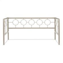 Astoria Metal Daybed Frame with Circle Design Panels and Square Profile, Champagne Finish, Twin