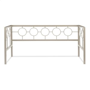 Fashion Bed GroupAstoria Metal Daybed Frame with Circle Design Panels and Square Profile, Champagne Finish, Twin