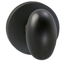 Interior Traditional Egg-shaped Knob Latchset with Modern Round Rose in (TB Tuscan Bronze, Lacquered)