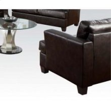 Brown Bonded Leather Chair