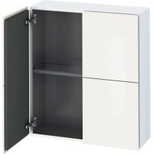 Semi-tall Cabinet, White High Gloss (decor)
