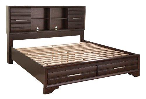 Andriel - Dark Brown 2 Piece Bed Set (King)
