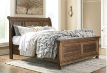 Flynnter - Medium Brown 3 Piece Bed Set (Cal King)