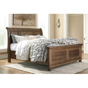 Ashley Furniture Flynnter - Medium Brown 3 Piece Bed Set (King)