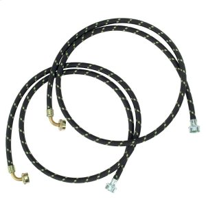 6' Gooseneck Nylon Braid Fill Hoses - 2 Pack -