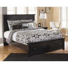 Maribel - Black 4 Piece Bed Set (Queen)